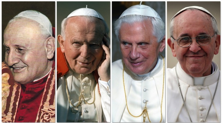Roncalli-Wojtyla-Ratzinger-Francesco