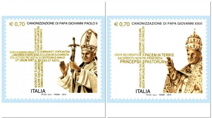 Francobolli Canonizzazione Roma 2014