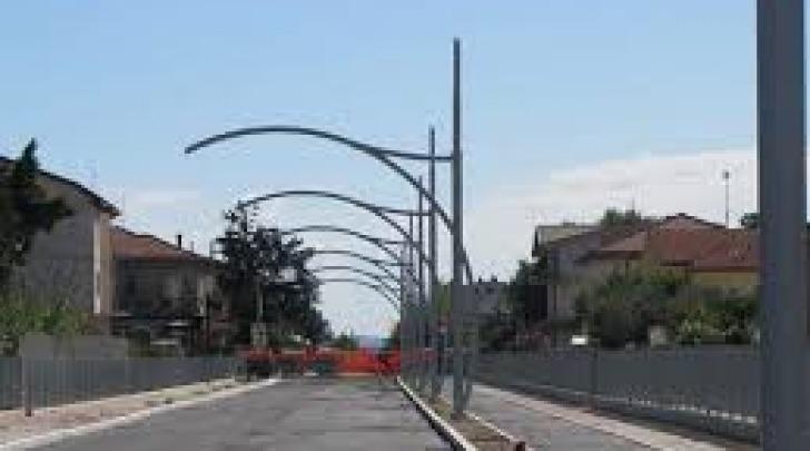 La filovia in corso di realizzazione a Pescara