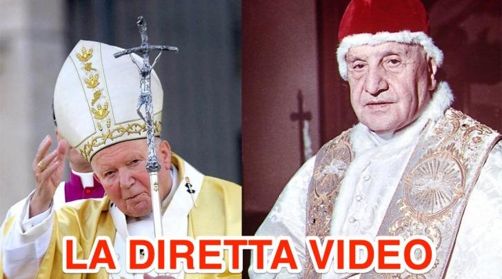 Canonizzazione Giovanni Paolo II e Giovanni XIII diretta video e twitter