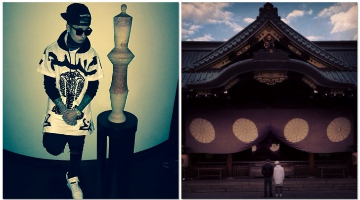 Justin Bieber al santuario di Yasakuni