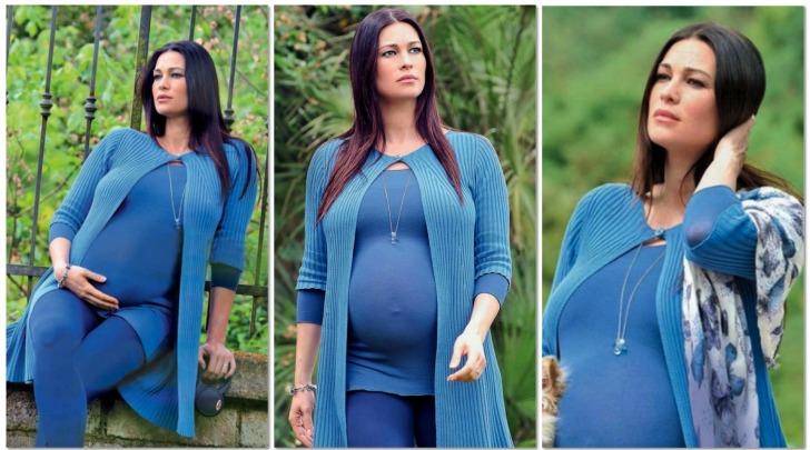 Manuela Arcuri, ultima passeggiata prima del parto