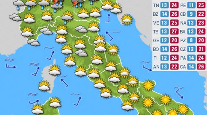 Meteo della settimana Italia