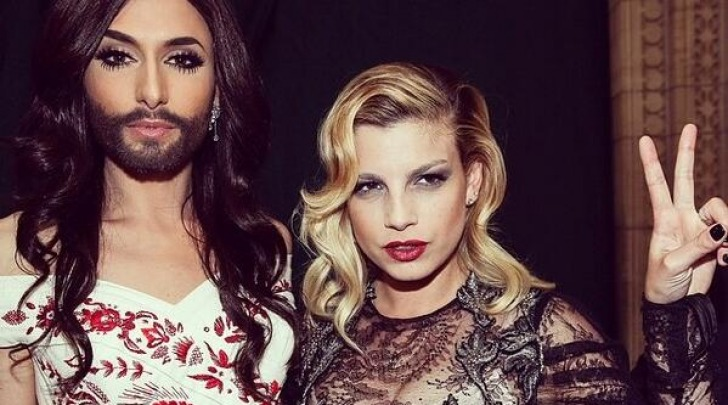 Conchita Wurst ed Emma Marrone