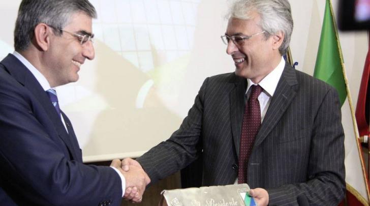 Luciano D'Alfonso e Gianni Chiodi