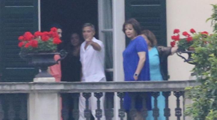 George Clooney, Amal Alamuddin e Baria Alamuddin