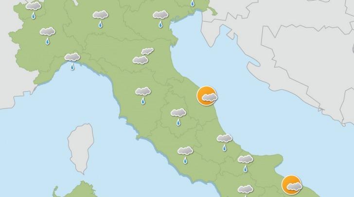 ilmeteo24ore.it pioggia sulla penisola