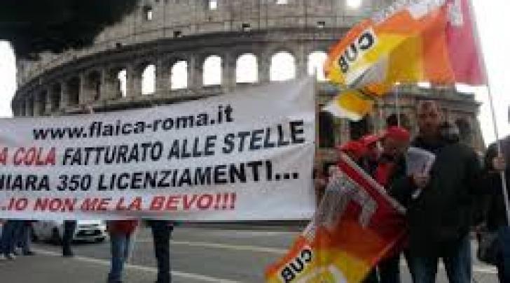 Manifestazione roma coca cola