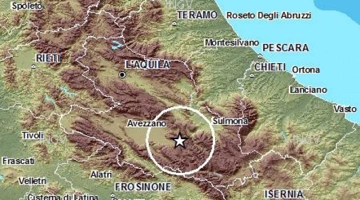 mappa sisma