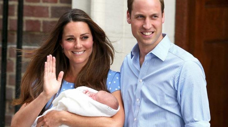 William, Kate e George