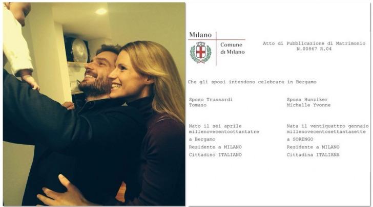 Michelle Hunziker e Tomaso Trussardi matrimonio