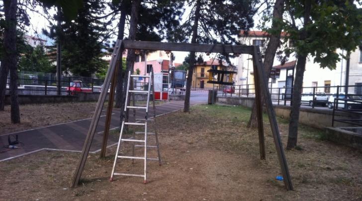 Il parco giochi comunale di Magliano de' Marsi