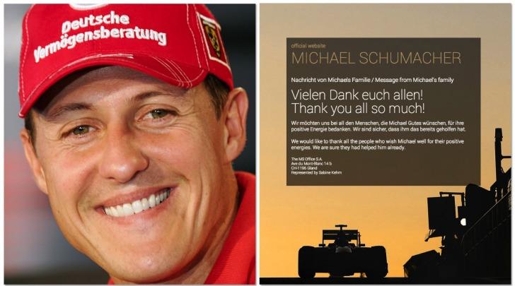 Michael Schumacher, website