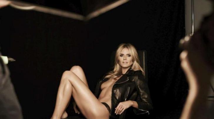 Heidi Klum nuda e provocante