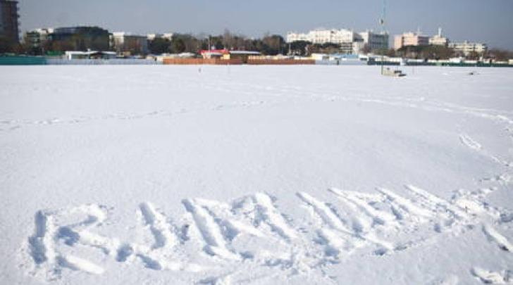 Rimini spiaggia neve