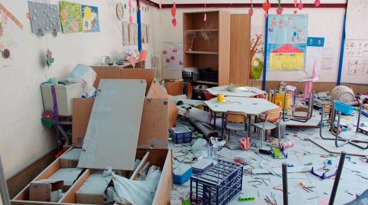 Raid vandalico a scuola