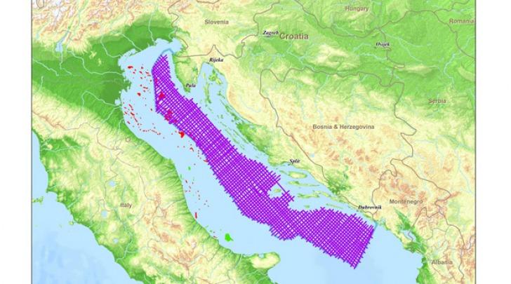 Mappa trivellazioni croate