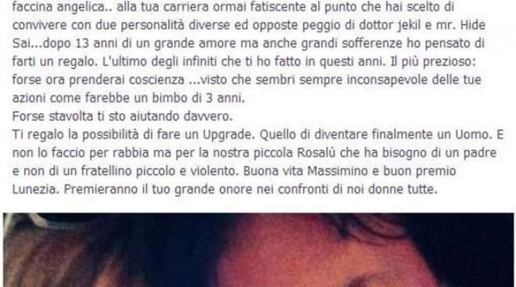 Denuncia violenze dal cantante Massimo Di Cataldo, le foto choc su Facebook