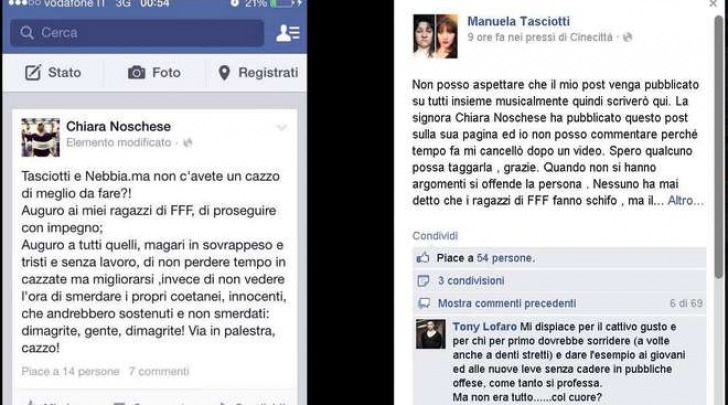 Forte forte forte, insulti sgradevoli su Facebook