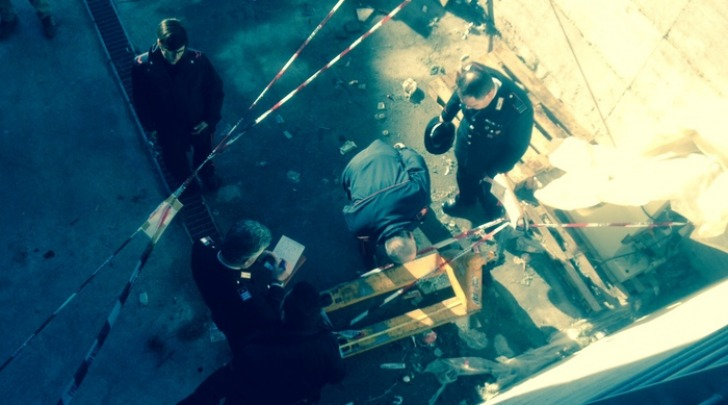 Foto Ansa-incidente mortale scuola Avezzano rilievi