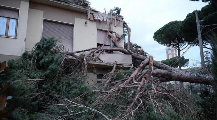 Danni provocati dal forte vento a Ponsacco (Pisa)