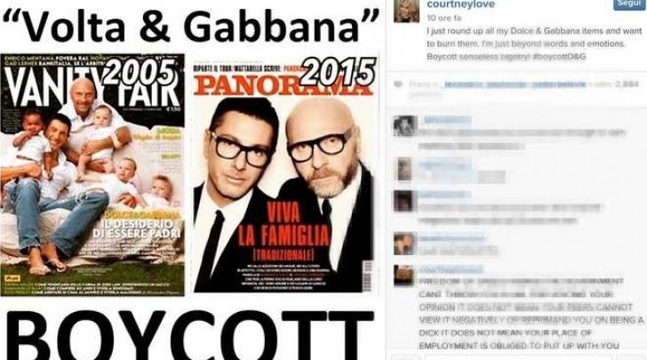 Courtney Love contro Dolce & Gabbana (Instagram)