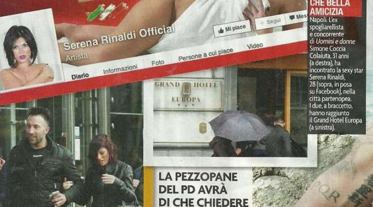 Simone Coccia a Napoli con la sexy star Serena Rinaldi (Novella2000)