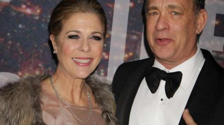 Tom Hanks e sua moglie Rita Wilson (LaPresse)