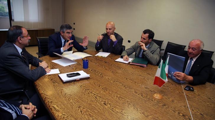 D'Alfonso incontra Confcommercio Abruzzo e Comune di Pescara