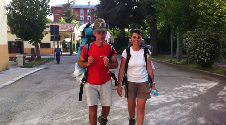 Cesare Castelnuovo con la moglie Simona