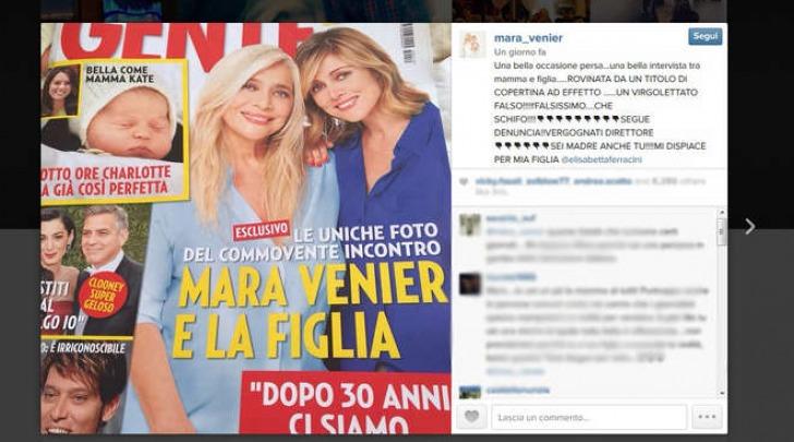 Il post di Mara Venier su Instagram
