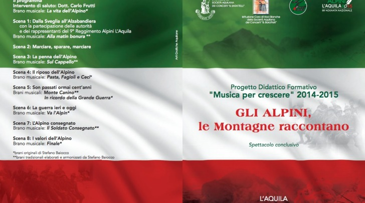 """""""Musica per crescere"""" 2014 – 2015, Gli Alpini, le Montagne raccontano"""