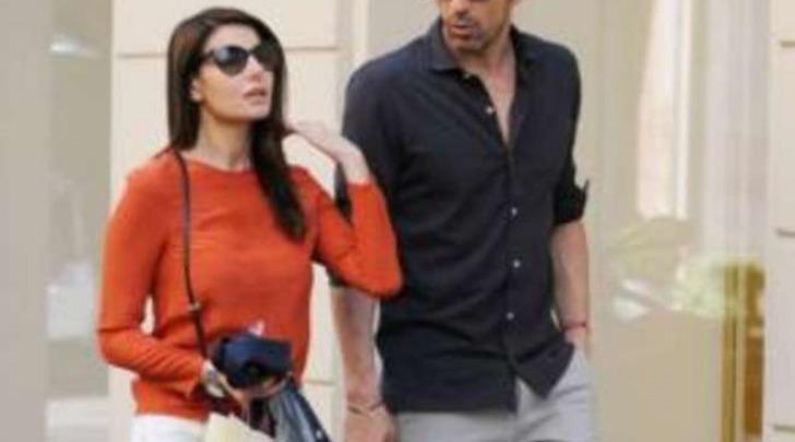 Ilaria D'Amico e Gigi Buffon a Milano (Olycom)