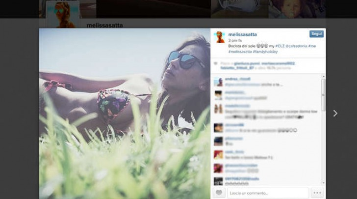 Le vacanze di Melissa Satta e Kevin Boateng (Instagram)