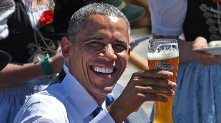 Obama con la birra
