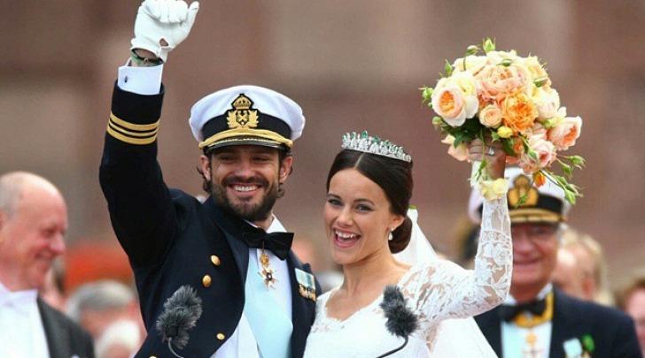 Le nozze del principe svedese e della star tv