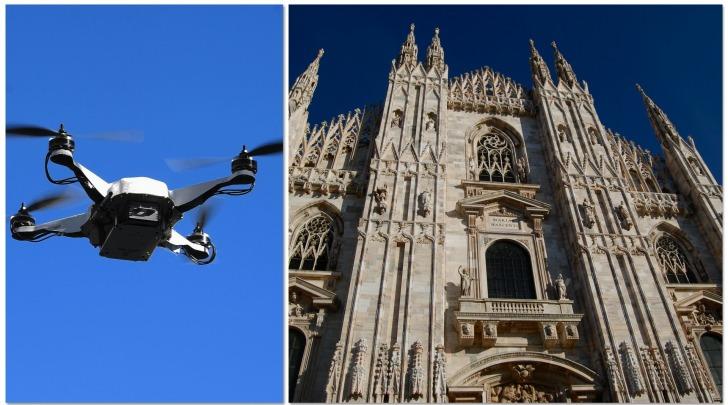 Milano, drone contro guglia maggiore del Duomo