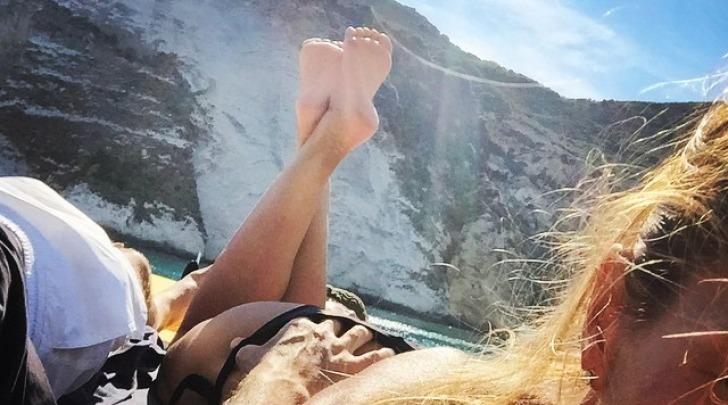 Martina Colombari e Billy Costacurta al Mare da Instagram