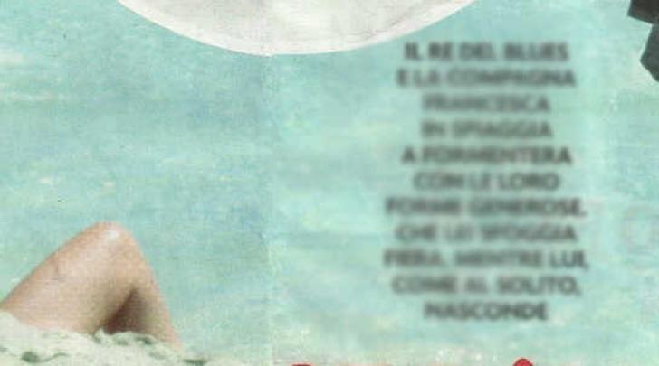 Zucchero e la moglie Francesca Moser in topless a Formentera (Novella2000)