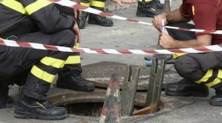 Vigili del fuoco a lavoro