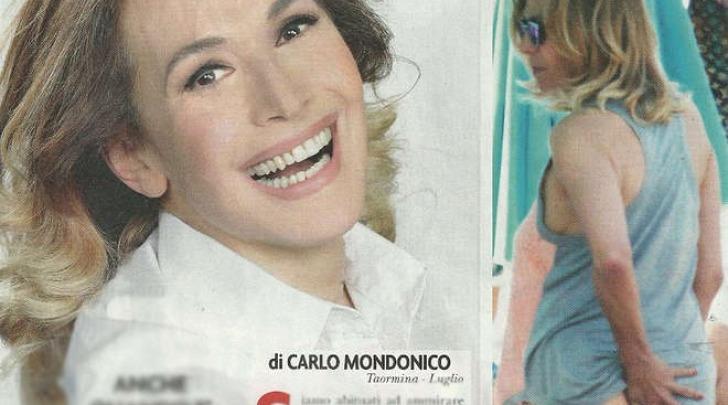 Barbara D'Urso al mare a Taormina (Novella2000)