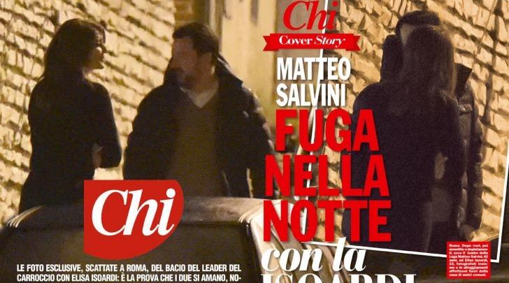 Matteo Salvini e Elisa Isoardi Bacio