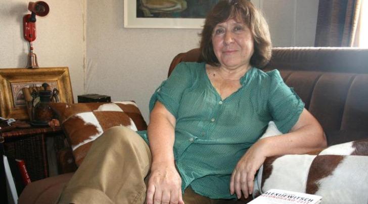 Svetlana Alexievich - foto da twitter