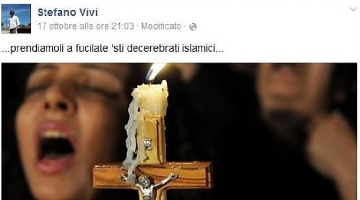 Post Sul Profilo Facebook Di Stefano Vivi