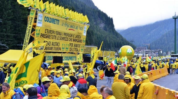 Manifestazione Coldiretti Brennero