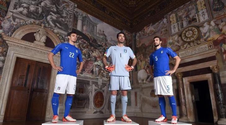 Maglia Nazionale Italiana 2016- foto da Ansa