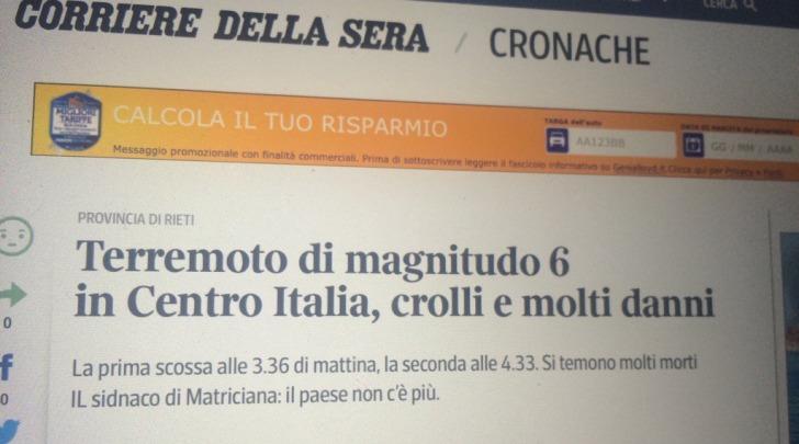 Terremoto Il Web Se La Prende Col Corriere Scambiano Amatrice