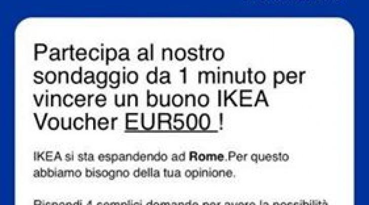 Sondaggio truffa IKEA