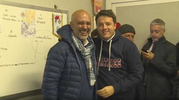 Il Sindaco di Amatrice Sergio Pirozzi con Matteo Renzi