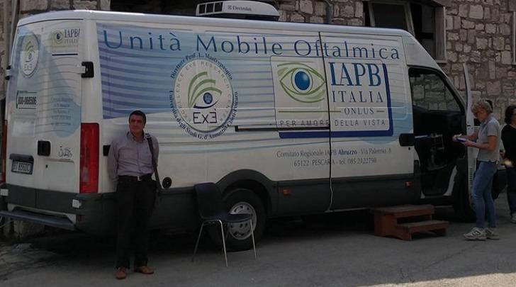 Unità mobile oftalmica Abruzzo